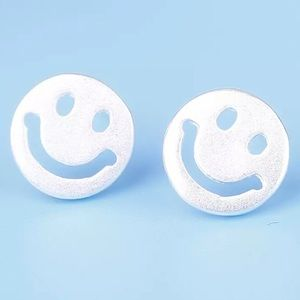 Jewelry - COMING SOON! Sterling Silver Smile Emoji Earrings